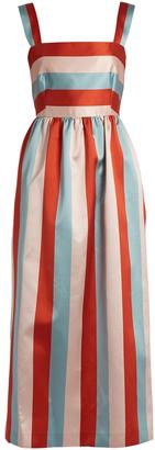 REDVALENTINO Striped midi dress $525 thestylecure.com