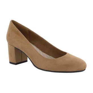 Easy Street Shoes Womens Proper Pumps Slip-on Round Toe Block Heel