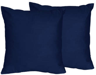 JoJo Designs Sweet Solid Navy Blue Throw Pillows