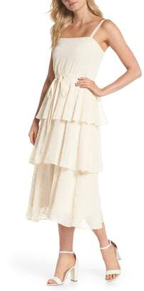 Gal Meets Glam Florence Chiffon Embroidered Tiered A-Line Dress (Nordstrom Exclusive)