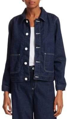AG Jeans Cropped Denim Jacket