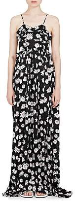 Balenciaga Women's Daisy-Print Silk Long Slipdress