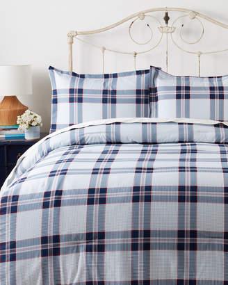 Tommy Hilfiger White & Navy Surf Plaid Comforter Set