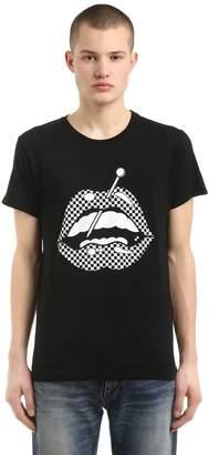 Little Prick Lips Cotton Blend T-Shirt
