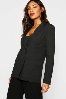 boohoo Double Breasted Tailored Blazer