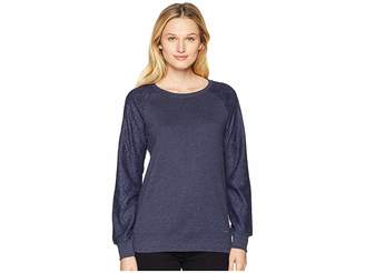 U.S. Polo Assn. Long Sleeve French Terry Crew Neck Pullover Women's Clothing