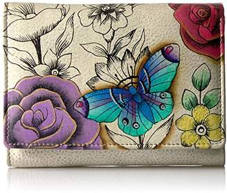 Anuschka Anna by Hand Painted Leather Women's Three Fold Wallet |