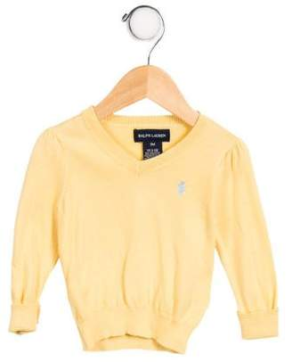 Ralph Lauren Boys' Embroidered V-Neck Sweater