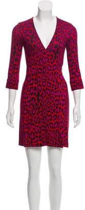 Diane von Furstenberg Animal Print Silk Dress