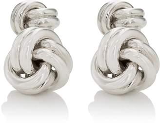 Barneys New York Men's Sterling Silver Double-Sided Knot Cufflinks