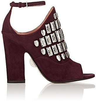 Samuele Failli Women's Maya Suede Halter Sandals - Dk. Purple Size 8