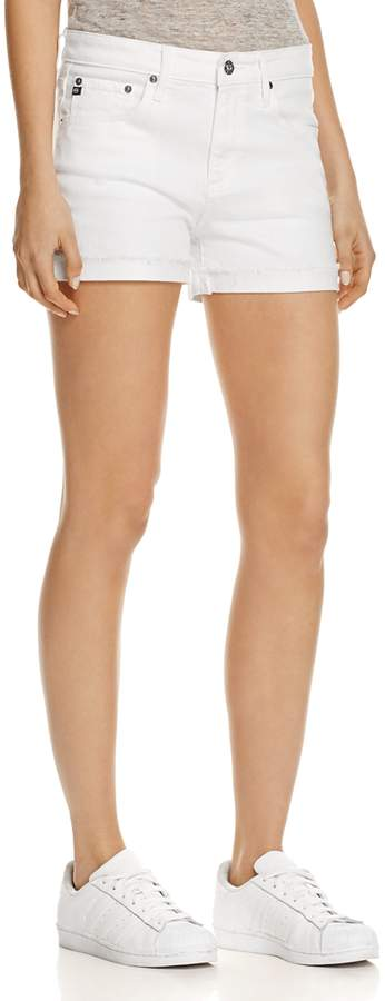 Hailey Denim Shorts in White