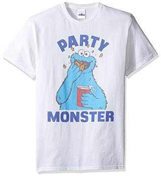 Sesame Street Men's Cookie Monster Party T-Shirt