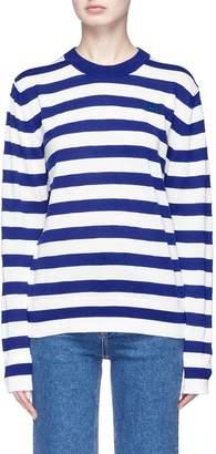 Acne Studios 'Nalon Striped Face' patch sweater