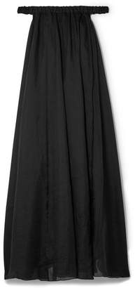 Three Graces London - Evangeline Off-the-shoulder Ramie Maxi Dress - Black