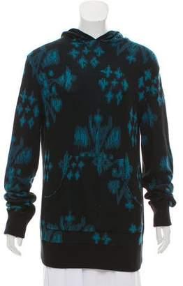 Baja East Patterned Hooded Sweatshirt