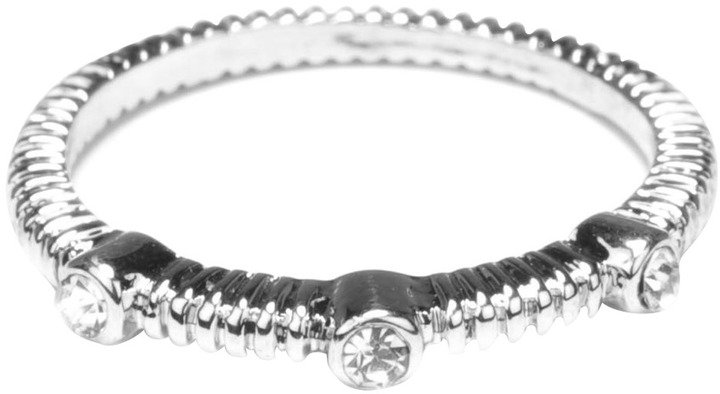 Lori's Shoes Etched Stacking Ring with Crystals