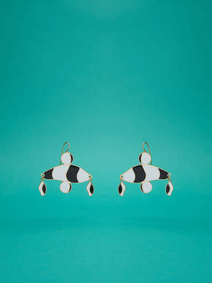 Diane von Furstenberg Abstract Color Block Earrings