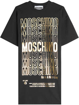 Moschino Printed Cotton T-Shirt Dress