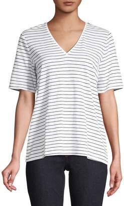 Eileen Fisher Striped Cotton Tee