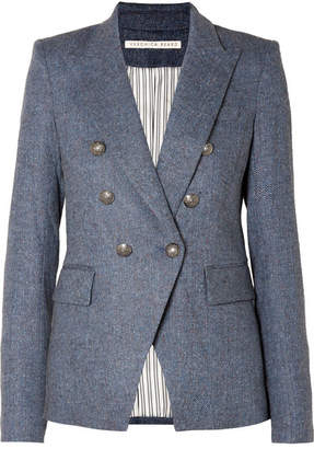 Veronica Beard Miller Dickey Tweed Blazer - Blue