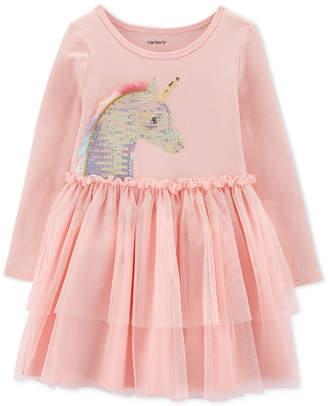 Carter's Carter Toddler Girls Sequin Unicorn Tutu Dress