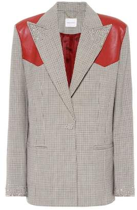 Magda Butrym Embellished checked wool blazer