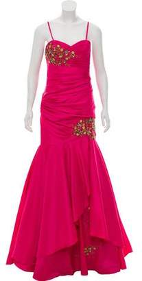Terani Couture Embellished Strapless Gown