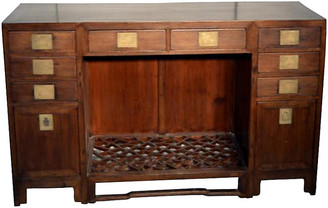 One Kings Lane Vintage Antique Chinese Fretwork Desk - FEA Home