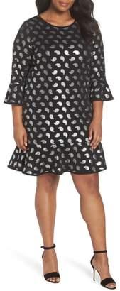 MICHAEL Michael Kors Paisley Foil Detail Flounce Dress