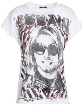 R 13 Printed Slub Cotton And Cashmere-Blend T-Shirt