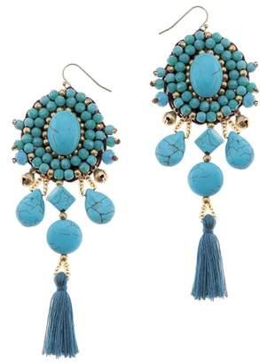 Nakamol Design Howlite Tassel Earrings