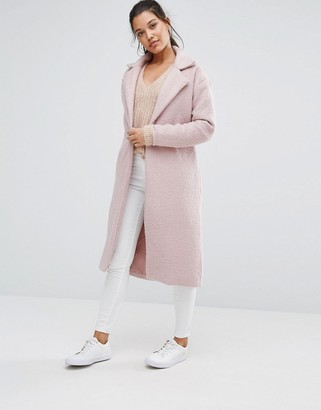 Missguided Textured Maxi Coat $98 thestylecure.com