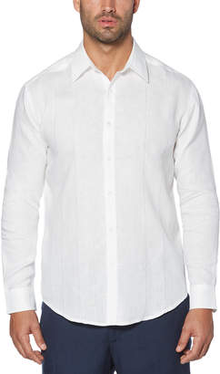 Cubavera Big & Tall 100% Linen Long Sleeve Panel With Embroidered Shirt