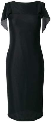 Tom Ford draped trim fitted dress