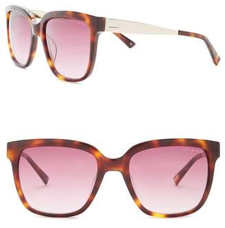 Ted Baker Oversized 55mm Acetate Frame Sunglasses