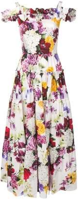 Dolce & Gabbana floral cold shoulder maxi dress
