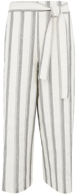 TopshopTopshop Cropped stripe trousers