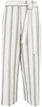 Topshop Cropped stripe trousers