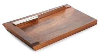 Nambe Geo Challah Bread Board with Knife