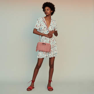 Maje Short printed dress with jewel