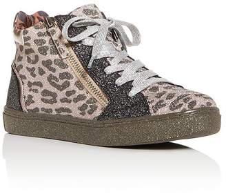 Steve Madden Girls' JSprinkle Glitter High-Top Sneakers - Little Kid, Big Kid