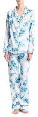 Saks Fifth Avenue Palm Sateen Pajama Set