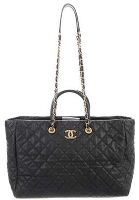 Chanel Large Coco Handle Shopping Tote Black Large Coco Handle Shopping Tote