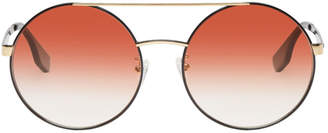 McQ Black and Orange Bridge Bar Sunglasses