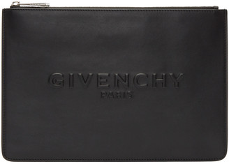 Givenchy Black Medium Logo Pouch $595 thestylecure.com