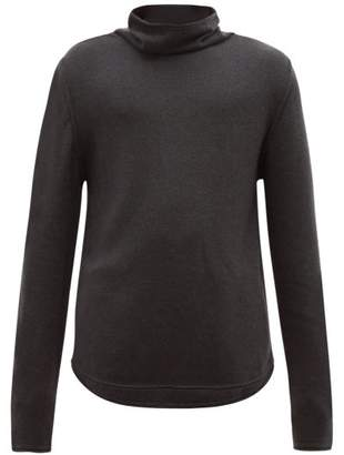 Denis Colomb Funnel Neck Cashmere Sweater - Mens - Charcoal