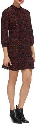 Whistles Lilly Lip-Print Dress