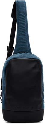 Diesel Black and Blue F-Suse Mono Backpack
