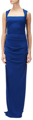 Adrianna Papell Sleeveless Gathered Jersey Gown, Night Flight